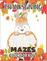 Thanksgiving mazes book for kids