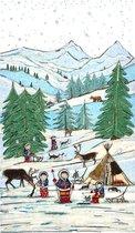 Poster Winterlandschap - Hanneke de Jager - Multikleur - 80 x 140 cm - Fotoprint - art print - wanddecoratie - print