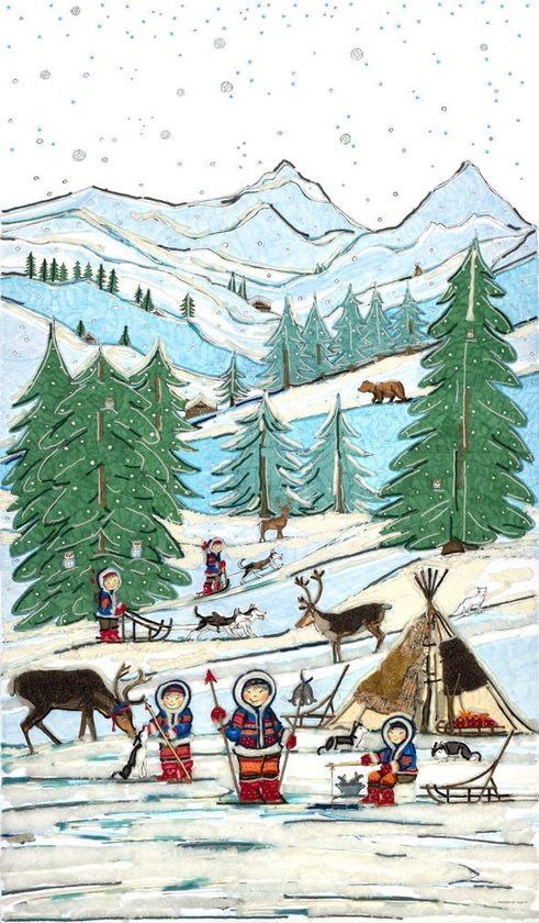 Poster Winterlandschap - Hanneke de Jager - Multikleur - 82 x 140 cm - Fotoprint - art print - wanddecoratie - print