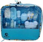 BenjaGoods® Baby verzorgingsset 13-in-1 veilige Verzorgset|Baby Geschenkset | Babyshower | Manicureset | Kraamcadeau jongen|Baby|Blauw