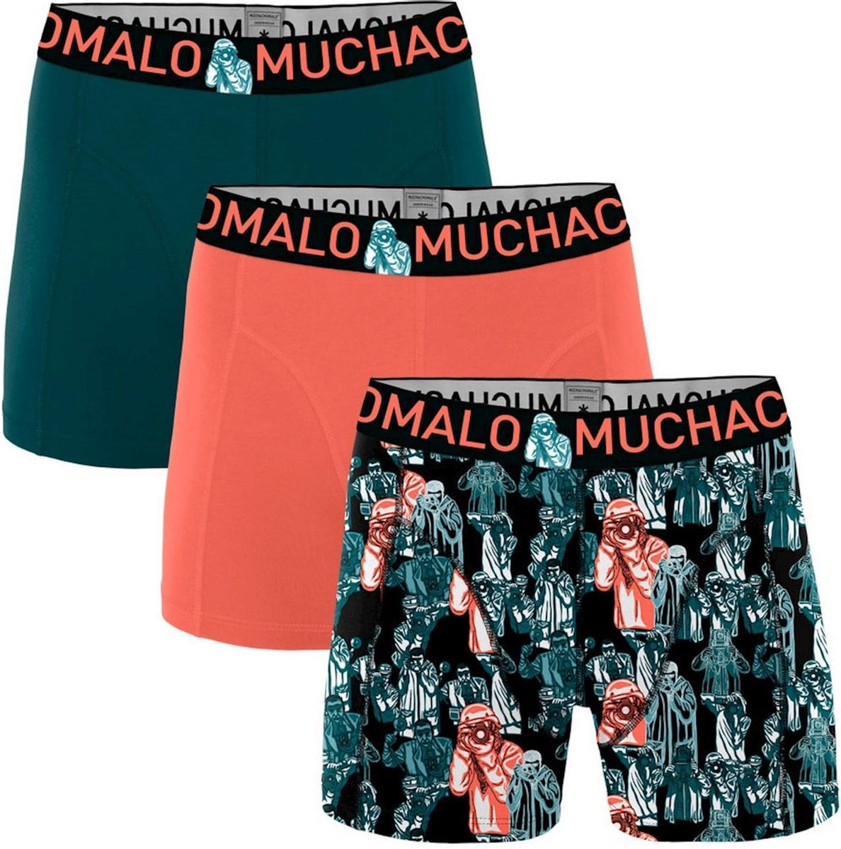 Muchachomalo - Camera - 3-pack boxershorts - multi - S