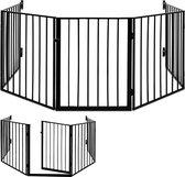 Open haard beschermrooster, kachel beschermer, traphek totale lengte 310 cm