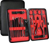 ⭐ATV PERFECTUM Luxe 18-delige - Manicure Set  - Zwart Manicureset - manicure setje Pedicureset - Nagelschaartje - Nagelknipper – nagelknipper set - manicureset - manicuresetje