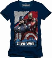 CIVIL WAR - T-Shirt Whose Side Are You On - Navy (XXL)