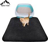 Alpha Trade kattenbakmat-gritmatje-waterdichte kattenmat-dubbellaags kattenmat-opvang mat-uitloop mat-kat-katten accesoires- kattenbak matje- katten mat-kitten