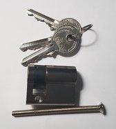 Cisa Halve profielcilinder - Cilinderslot - Garageslot - Schuurslot - 30/10 - Inclusief 3 sleutels