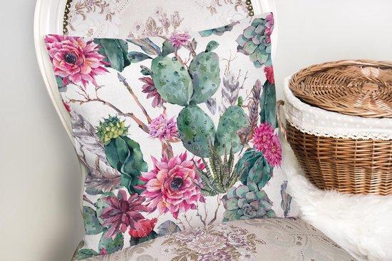 Decoratieve sierkussen cactus en woestijnplanten patroon - Kussens woonkamer...