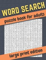 word search puzzle book for adults-large print edition
