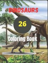 26 Dinosaurs Coloring Book