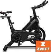 Senz Sports S2000 - Spinningbike incl. trainingscomputer en Bluetooth - V-belt aandrijving - Ergonomisch ontwerp - Magnetisch weerstandsysteem - 6kg Vliegwiel - Spinningfiets voor thuis - Zwart