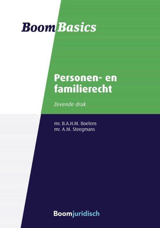 Boek cover Boom Basics  -   Personen- en familierecht van Bregje Boelens (Paperback)