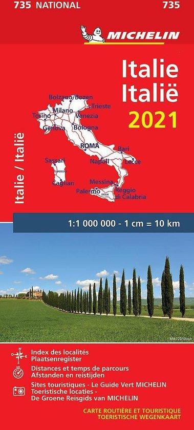 Boek cover Nationale kaarten Michelin  -   Michelin 735 Italië 2021 van  (Onbekend)