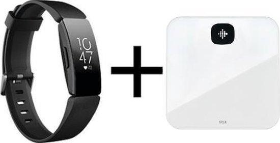 Fitbit Inspire HR Zwart + Aria Air Wit bundle