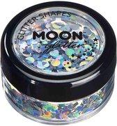 Moon Creations Glitter Makeup Moon Glitter - Holographic Glitter Shapes Zilverkleurig