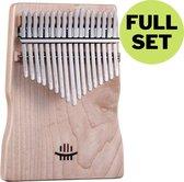 ATV PERFECTUM 2020 Kalimba Duimpiano gemaakt van Esdoorn hout met 17 Toetsen + Accessoires - Esdoorn - Massief hout - ThumbPiano – Muziekinstrument – Bamboe – Incl. StemHamer / luxe Opbergzak / Toets Stikkers / Luxe Reinigingsdoek – C-Tune