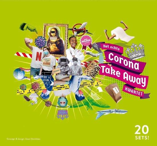 Het echte Corona Take Away Kwartet - 20 sets - XL - coronakwartetspel - coronakwartet