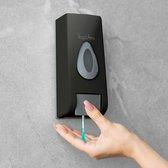 Vog&Arths - Zeepdispenser Wandmontage / Desinfectie Dispenser - Hangend Zeeppompje Muur - Zwart - Mechanische Zeep pomp - 350ML - Zonder Batterijen!