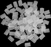 Koordstoppers mondmasker sillicone - 14 stuks - transparant - voor elastiek mondkapje - GEAR3000®
