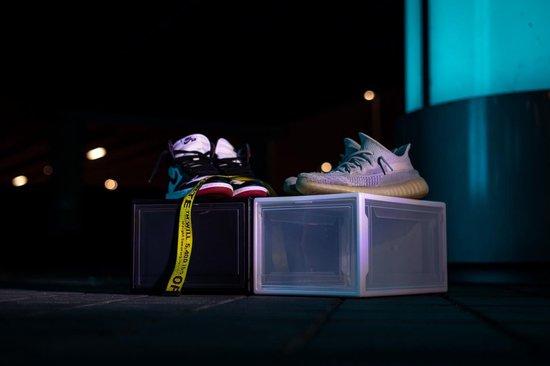 Schoenendoos - Opbergdoos - Sneakerbox - Transparant - Transparante schoenendoos - Sneakerdoos - Hypebeast - Schoenenopslag - Schoenen doos - Opslag - Schoenendozen transparant - Schoenenopbergsysteem - Transparante dozen