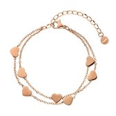 Shoplace ® - Hartjes armband dames - ⌀ 20cm - Rose goud