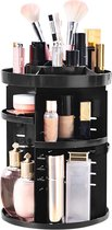 AWEMOZ® Make-up Organizer - 360° Roterend - Zwarte Beauty opbergbox -  Opbergdoos Cosmetica - Sieraden - Lippenstift - Nagellak