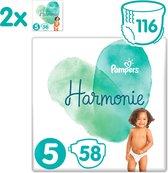 Pampers Harmonie / Pure Maat 5 (11kg+) 116 Luiers