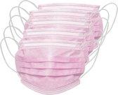 50 stuks roze mondkapjes mondmaskers