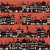 2x Rollen Sinterklaas kadopapier print donkerrood  2,5 x 0,7 meter op rol 70 grams - Luxe papier kwaliteit cadeaupapier/inpakpapier - Sint en Piet