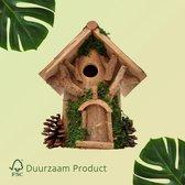 Duurzaam Vogelhuisje opening van 27 mm Vogel Huisje met Groene Details | GerichteKeuze