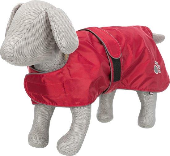 Hondenjas gevoerd en waterafstotend - Kleur: Rood - Nekomvang: 44-60 cm Buikomvang: 50-70 cm Ruglengte: 50 cm