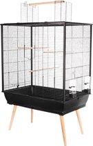Zolux Vogelkooi Neo Darwin - Vogelverblijven -  Zwart - 78 x 48 x 112 cm
