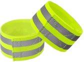Veiligheids armbanden  Reflecterende armband   Sport armbanden    Wielrennen / Hardlopen veiligheidsband  armbanden armband hardloop wielren sport fiets hardloop zichtbaarheid - Geel