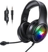WINTORY M1 RGB gaming headset met stereo microfoon voor PS4-laptops-Xbox One -Zwart