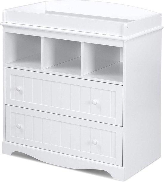 Product: Trend24 - Commode - Verzoringstafel - Commode kasten -  Aankleedtafel - Babykamer - Wit, van het merk Trend24