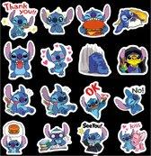 50 stuks stickers Stitch 3-8 cm / assortie