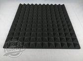 Foam panelen piramide studioschuim 30x30x5cm 12 stuks