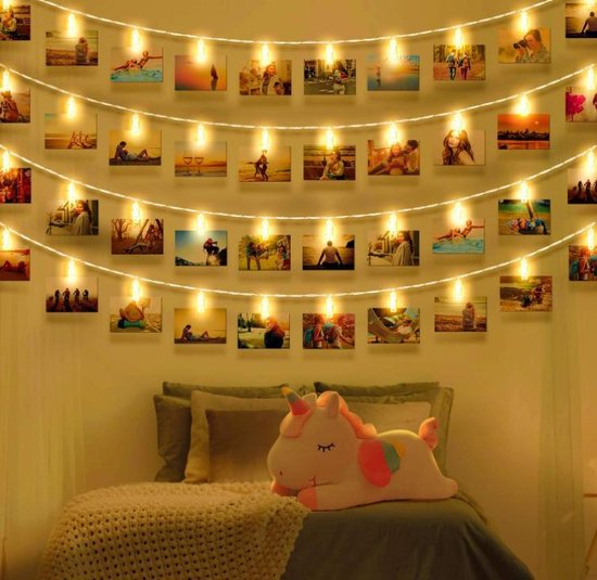 Bol Com Led Fotoclips Lichtketting Voor Kamerdecoratie Wellead Clip Fotolijst Decoratie