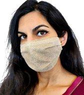 Glitter mondkapje wasbaar   nude   met katoen   mondmasker