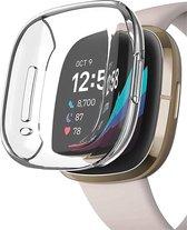Fitbit Versa 3 Screenprotector + Fitbit Versa 3 Hoesje - Transparant Hoesje en Screen Protector voor Fitbit Versa 3