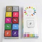 Stempelkussen set - met 20 verschillende kleuren - Stempelinkt Set - Doe-het-zelf stempelkussen - Stempel pad - Inktkussen