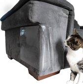 XXL Krab Bescherming - Krabpaal - Krabplank - Anti Krab - Katten - Bank Beschermer - Bankbeschermer - 4 Stuks - Transparant - 30 x 45 cm