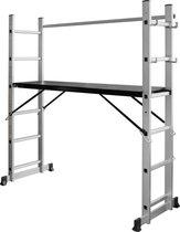 ALDORR Home - 2x6 Multifunctionele Kamersteiger - Ladder - Werkhoogte 3,20 meter