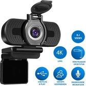 2K webcam met 4k lens voor PC met  Microfoon & Webcam Cover - Werk & Thuis - Videobellen - USB - Zwart