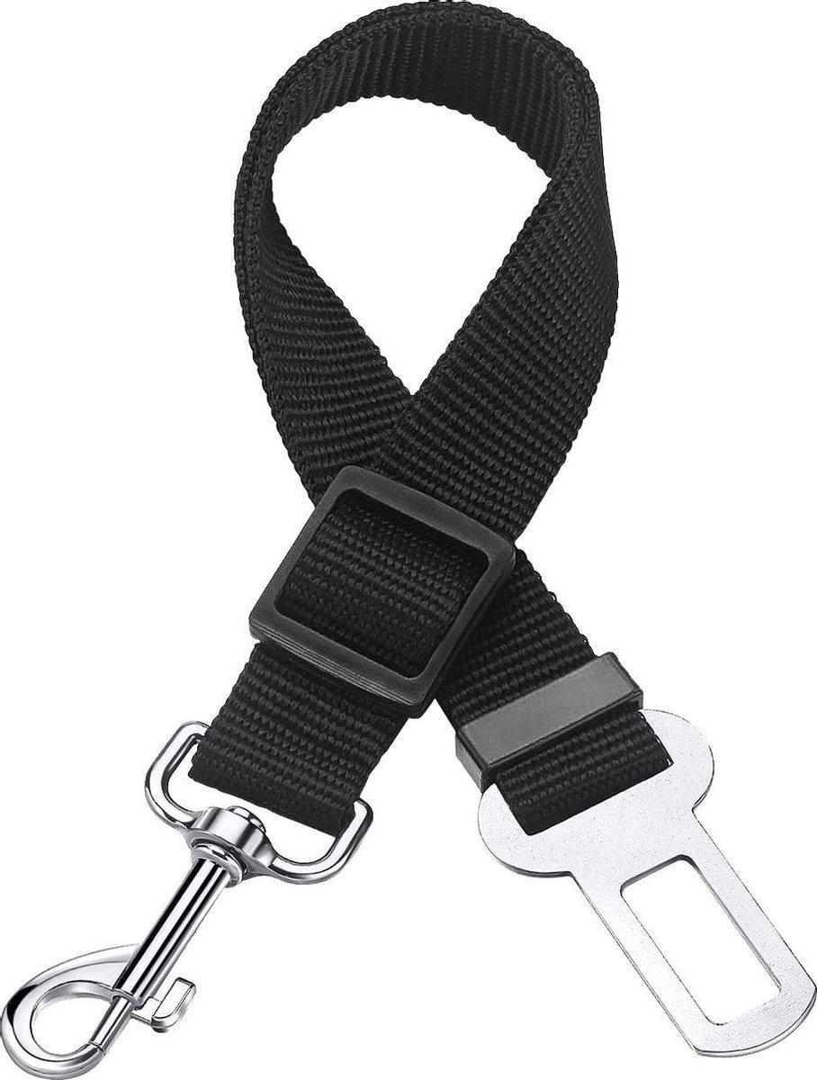 Hondenriem Autogordel Hondentuig Hondengordel Verstelbaar - Zwart
