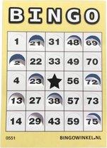 Bingokaarten 1-75 Karton   Push-Out   50 stuks