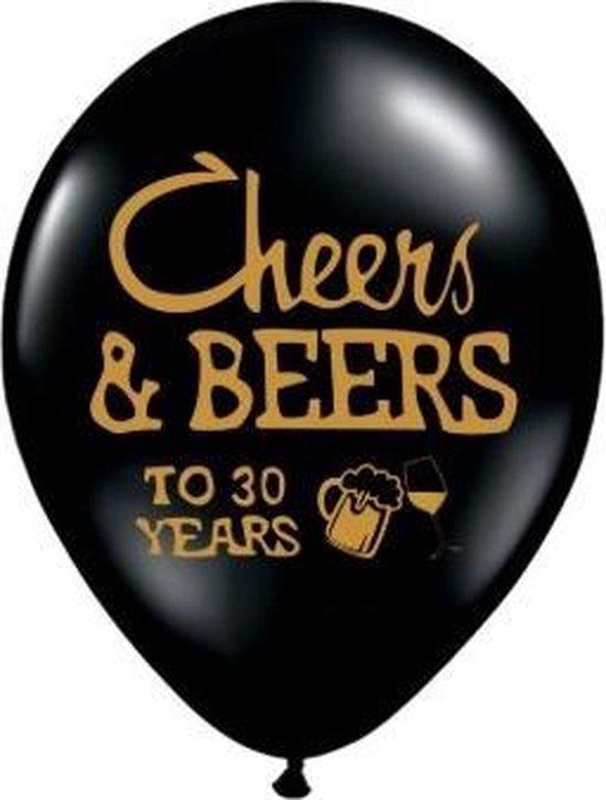 Verjaardag Ballonnenset 30 jaar | Cheers & Beers to 30 years | 20 stuks latex ballonnen
