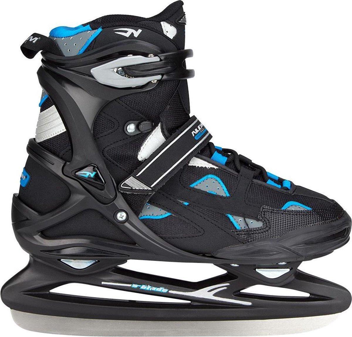 Nijdam IJshockeyschaats Pro-Line - Semi-Softboot - Zwart/Antraciet/Blauw - 45