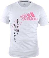 ADIDAS Graphic T- shirt White Pink maat L