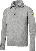 Snickers ½-Zip Wollen Sweater 2905-2800-Lichtgrijs melange-L