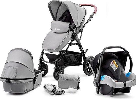 Kinderkraft Moov 3 in 1 Kinderwagen - Inclusief Autostoel - Grey